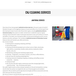 Janitorial Service in Somerset County