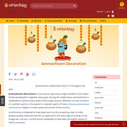 Get best Krishna Janmashtami Decoration Ideas this Janmashtami,Let there be love, happiness and laughter in your life with Lord Krishna's blessings.
