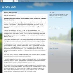 Janshs blog: the net generation?