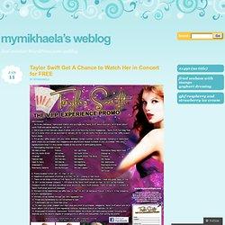 2011 January « Mymikhaela's Weblog