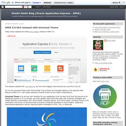 Dimitri Gielis Blog (Oracle Application Express - APEX): January 2015