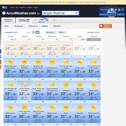 Yangon Month Weather - AccuWeather Forecast for Yangon Myanmar