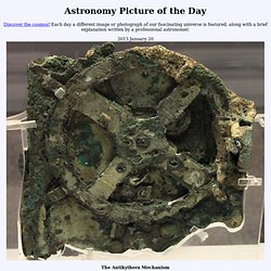 2013 January 20 - The Antikythera Mechanism