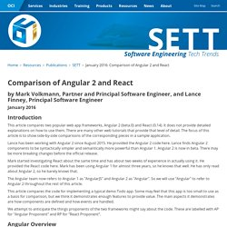 January 2016: Comparison of Angular 2 and React