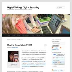 Digital Writing, Digital Teaching
