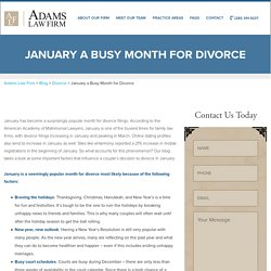 January a Busy Month for Divorce