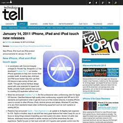 January 14, 2011 iPhone, iPad and iPod touch new releases