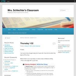 Mrs. Schlechter's Classroom