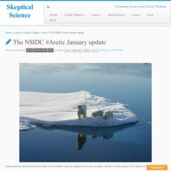 The NSIDC #Arctic January update - Skeptical Science