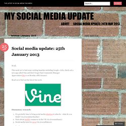 2013 January « My Social Media Update