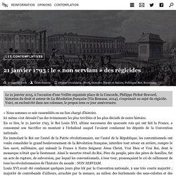 21 janvier 1793 : le « non serviam » des régicides