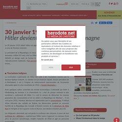30 janvier 1933 - Hitler devient chancelier de l'Allemagne - Herodote.net