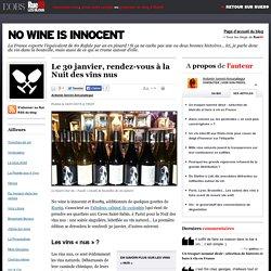 Le 30janvier, rendez-vous à la Nuit des vins nus