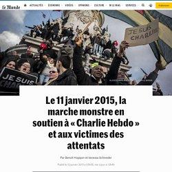 Le 11janvier 2015, la marche monstre en soutien à «Charlie Hebdo» et aux victimes des attentats