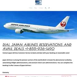 Dial japan airlines reservations and Avail Deals +1-855-936-1490