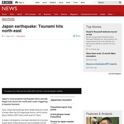 Japan earthquake: Tsunami hits north-east