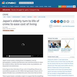 Japan's elderly turn to life of crime to ease cost of living