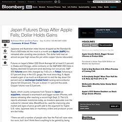 Japan Futures Drop After Apple Falls; Dollar Holds Gains