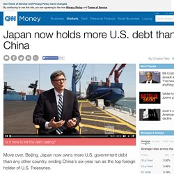 Japan now holds more U.S. debt than China - Apr. 15, 2015