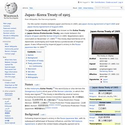 Japan–Korea Treaty of 1905 - Wikipedia