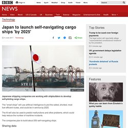 Japan to launch self-navigating cargo ships 'by 2025'