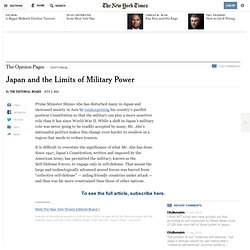 Japan and the Limits of Military Power - NYTimes.com