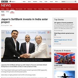 Japan's SoftBank invests in India solar project - BBC News