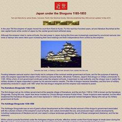 Japan under the Shoguns