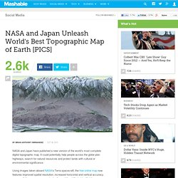 NASA and Japan Unleash World's Best Topographic Map of Earth [PICS]