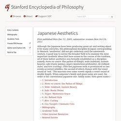 Japanese Aesthetics