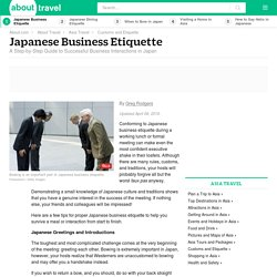 Japanese Business Etiquette: Dos and Don'ts