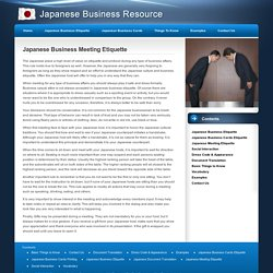Japanese Business Meeting Etiquette
