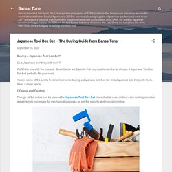 Japanese Tool Box Set – The Buying Guide from BansalTone