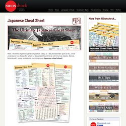 Japanese Cheat Sheet | nihonshock