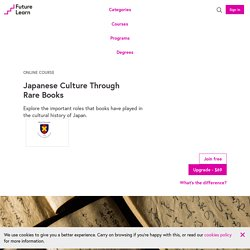 Japanese Culture Through Rare Books - Online Course