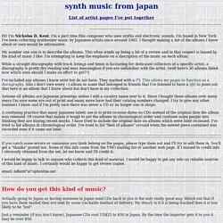 Japanese Electronic Music