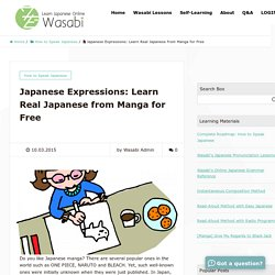 Japanese Expressions: Learn Real Japanese from Manga for Free