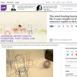 Japanese Artist Crafts Furniture That Looks Like Sketches