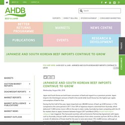 Japanese and South Korean beef imports continue to grow - AHDB Beef & Lamb