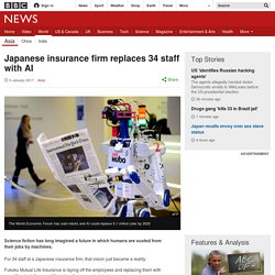 Japanese insurance firm replaces 34 staff with AI