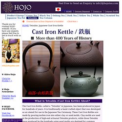 Japanese Cast Iron Kettle: Nanbu Tetsubin : HOJO TEA