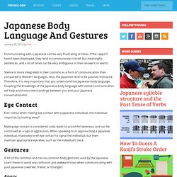 Japanese Body Language