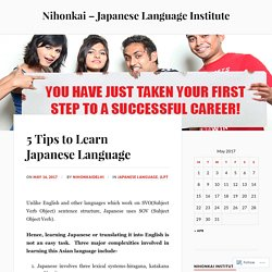 5 Tips to Learn Japanese Language