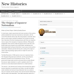 The Origins of Japanese Nationalism