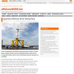Japanese Offshore Wind Taking Pace