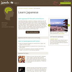 Learn Japanese Free - Learn Japanese Online - Livemocha