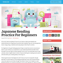 Japanese Reading Practice For Beginners