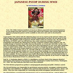 Japanese PSYOP During WWII - FrontMotion Firefox