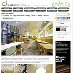 Tokyo curry Japanese restaurant by Friend's Design, Seoul – South Korea