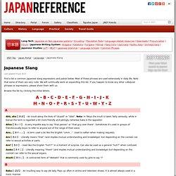 Japanese Slang